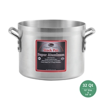 "Winco AXS-32 Winware Super Aluminum Stock Pot - 32 Qt., 4mm ( 3/16"") Thick"