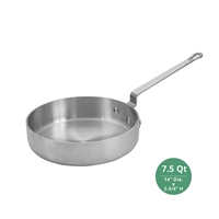 "Winco AXST-7 Winware Professional Saute Pan - 7-1/2 Qt., 4mm ( 3/16"") Thick"