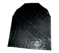 Winco Latex Bib Apron - Black, (BA-LA)