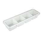 Winco 4-Compartment Bar Caddy - White, (BC-4P)