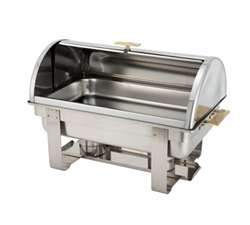 Winco Roll-Top Chafer - Gold Accent - 8 Qt., (C-5080)