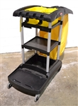 Used (Slightly) Rubbermaid High Capacity Janitorial Cleaning Cart, (C01024-FG9T7200)