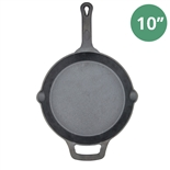 "10"" Cast Iron Skillet Pre-Seasoned - Fire Iron by Winco (Winco CAST-10)"