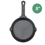 "8"" Cast Iron Skillet Pre-Seasoned - Fire Iron by Winco (Winco CAST-8)"