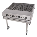 "Outdoor Charboiler 30"" Wide 4-Burner - Liquid Propane Gas (Bakers Pride CBBQ-30S)"