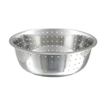 "Winco Chinese Colander - Stainless Steel With 5 mm Holes - 15"", (CCOD-15L)"