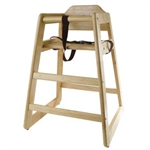 Winco Stacking High Chair - Natural (CHH-101)
