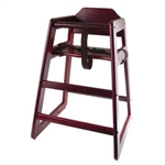 Winco Stacking Hign Chair - Mahogany Finish (CHH-103)