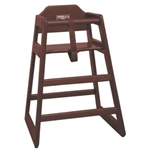 Winco Stacking High Chair - Walnut Finish (CHH-104)