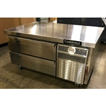 Continental model DL48G 72 Inch Wide Refrigerated Chef Base Equipment Stand - New Item - Test Kitchen Demo