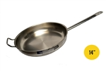 "Clearance Item - Vollrath Centurion Series 14"" Fry Pan with Helper Handle (3414)"