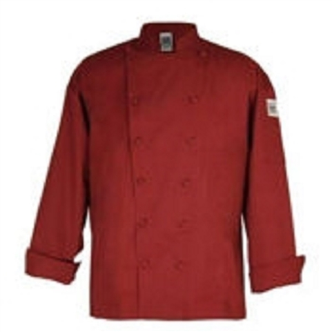 Clearance Item - Chef Revival XL Chef Coat, - Claret Red with Black Trim  (J016CLT-XL)