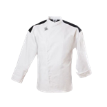 Clearance Item - Chef Revival XL Chef Coat, - White with Black Trim  (J027-XL)