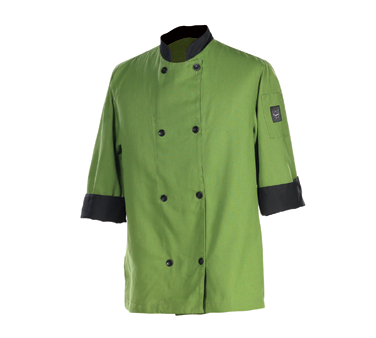 Clearance Item - Chef Revival XL Chef Coat, - Mint Green with Black Trim  (J134MT-XL)