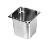 "Clearance Item - Update Steam Table Pan 1/6 Size, 6"" Deep (NJP-166)"