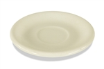 "Crestware Saucer, 6"", narrow rim, ceramic, Dover White, (CM21)"