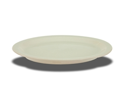 "Crestware Platter, 9-3/8"" X 8"", narrow rim, ceramic, Dover White, (CM51)"