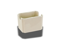 "Crestware Sugar Packet Holder, 2-1/2"" x 3-1/2"", ceramic, Dover White, (CM68)"