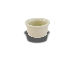 "Crestware Ramekin, 3-1/2 oz., 3"", plain, ceramic, Dover White, (CM76)"