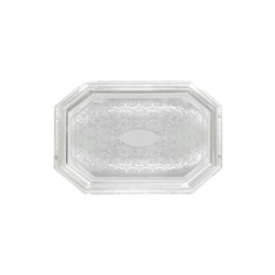 "Winco Chrome Tray - Octagonal - 12"" X 17"", (CMT-1217)"