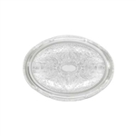 "Winco Chrome Tray - 0.5 mm - Oval - 18"" X 13"", (CMT-1318)"