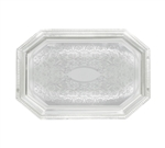 "Winco Chrome Tray - 0.6 mm - Octagonal - 14"" X 20"", (CMT-1420)"
