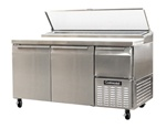 Continental 60-inch 19 Cu.Ft. (2) Door Pizza Prep Table, With (8) 1/3 Size Pans, (CPA60)
