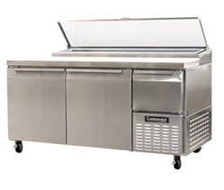 "Continental CPA68 2-Door Pizza Prep Table - 68"" Wide"