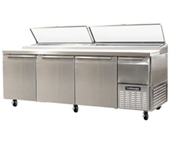 Continental 93-Inch 32 Cu.Ft. (3) Door Pizza Prep Table, With (12) 1/3 Size Pans, (CPA93)