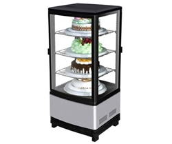 Turbo Air Countertop Diamond Pass-Thru Glass Dessert Cooler, (CRT-77-2R)