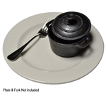 TableCraft 8-oz Cast Iron Round Mini Casserole Dish w/Lid, (CW30110)