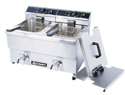 AdCraft DF12L/2 Countertop Electric Fryer - Double Pot