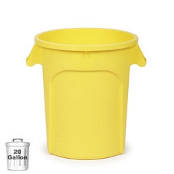 20-Gallon Plastic Trash Container, Yellow (DIN 200102)