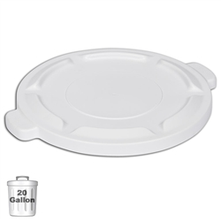 White Trash Can Lid for 20-Gallon Container  | Gator Chef