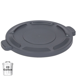 Gray Trash Can Lid for 20-Gallon Container