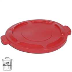Red Trash Can Lid for 20-Gallon Container  | Gator Chef
