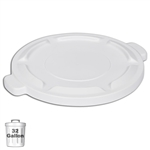 White Trash Can Lid for 32-Gallon Container | Gator Chef
