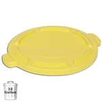 Yellow Trash Can Lid for 32-Gallon Container | Gator Chef