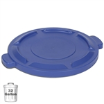 Blue Trash Can Lid for 32-Gallon Container | Gator Chef