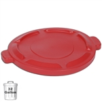Red Trash Can Lid for 32-Gallon Container | Gator Chef