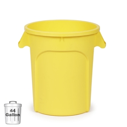 44-Gallon Plastic Trash Container, Yellow (DIN 440102)