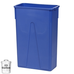 23-Gallon Slim Wall-Hugger Trash Container, Blue (DIN-STC2304)