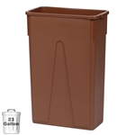 23-Gallon Slim Wall-Hugger Trash Container, Brown (DIN STC2306)