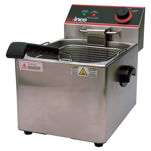 Countertop Electric Deep Fryer - 16 Lbs - 120VAC (Winco EFS-16)