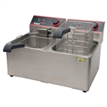 Countertop Electric Deep Fryer - Dual Tank - 32 Lbs - 120VAC (Winco EFT-32)