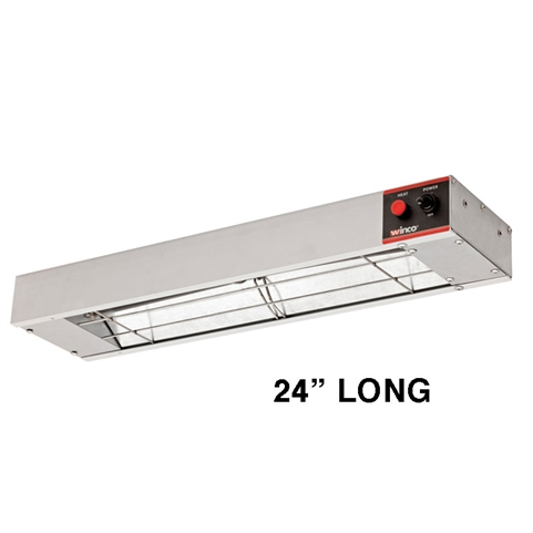 "Infrared Strip Heater Food Warmer - 24"" Long, 500 Watts, 120V (Winco ESH-24)"