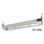 "Infrared Strip Heater Food Warmer - 60"" Long, 1400 Watts, 120V (Winco ESH-60)"