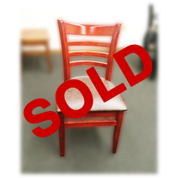 Used Cherry Hardwood Dining Chair