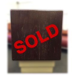 Used 30-Inch Square Table Top - Solid Wood - Mahogany Finish