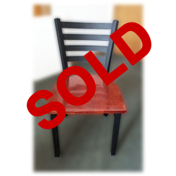 Used Restaurant Black Metal Dining Chair